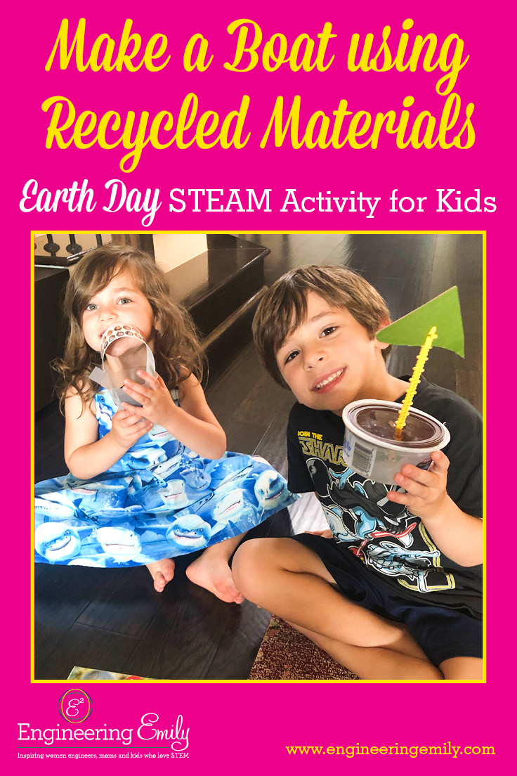 Make A Boat Using Recycled Materials Earth Day Steam Activity For Kids Engineering Emily
